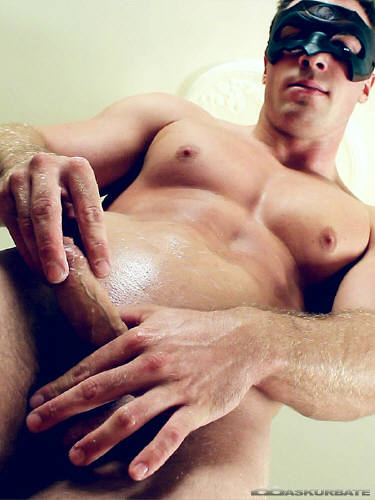 Hot solo horny jerking masturbate wanking orgasm cumshot hunk jock masturba 2