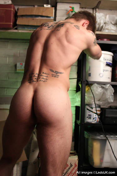 Euro Jock Shows His Cock And Ass
